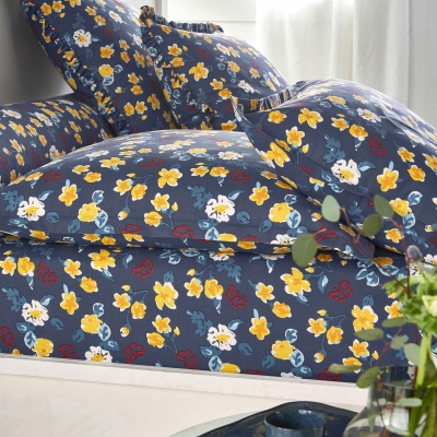 Linge de lit Betty coton Marine: Vue 3