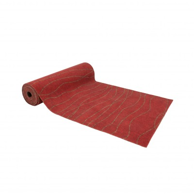 Tapis rouge toucher velours Rouge: Vue 3