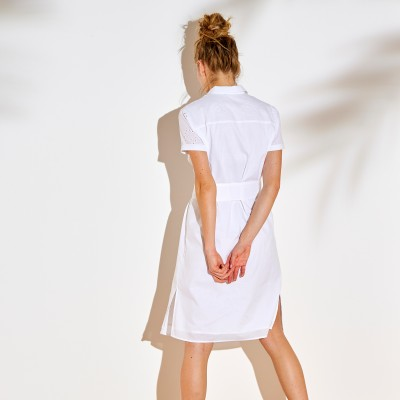 Robe chemisier broderie anglaise Blanc: Vue 3