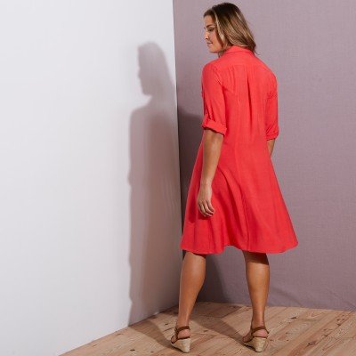 Robe-chemise - rouge Rouge: Vue 3
