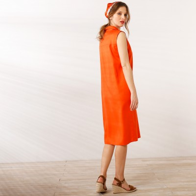 Robe chemisier Orange: Vue 3
