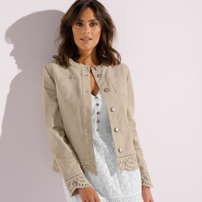 Veste broderie anglaise Sable: Vue 3