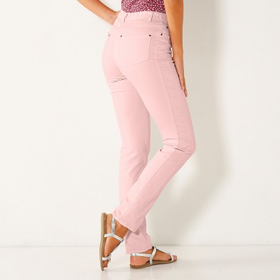 Pantalon stretch coutures affinantes Rose grisé: Vue 3