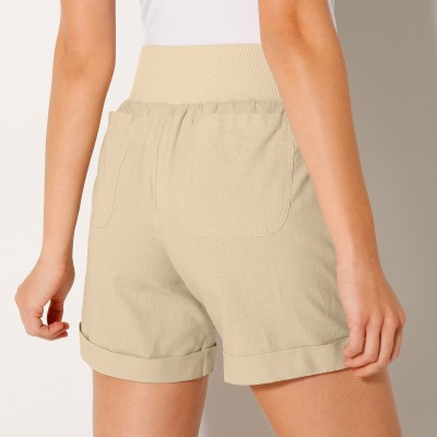 Short coton lin Naturel: Vue 3