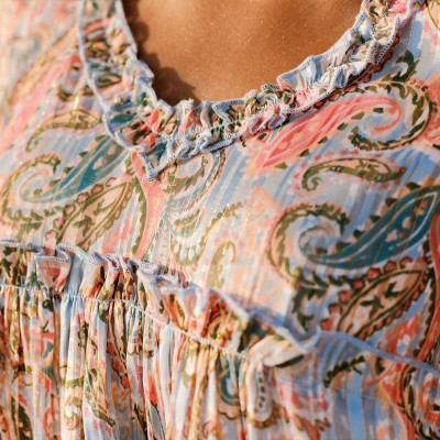 Blouse manches nouettes - unie Taupe: Vue 3