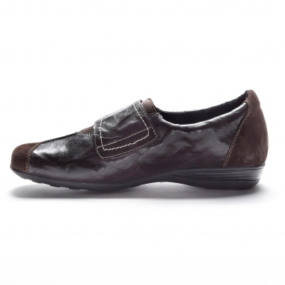 Derbies en cuir souple Marron: Vue 3