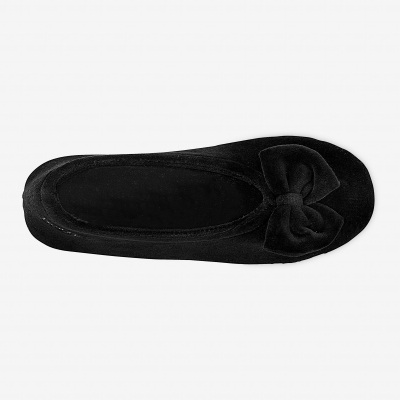 Ballerines unies velours Noir: Vue 3