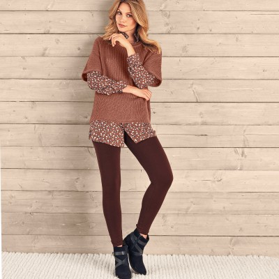 Pull poncho manches coudes Moka: Vue 3