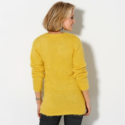 Pull col rond maille douceur Miel: Vue 3