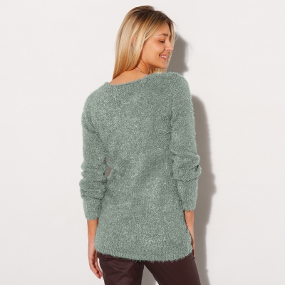 Pull col rond maille douceur Bronze: Vue 3