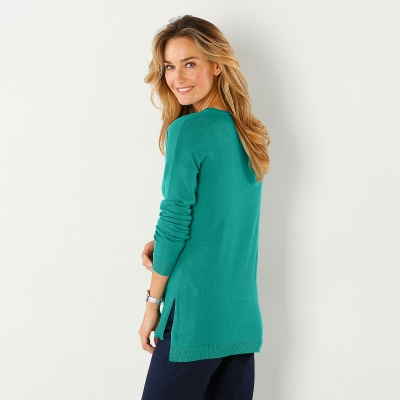 Pull col rond Menthe: Vue 3