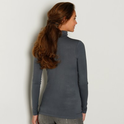 Sous-pull stretch viscose Anthracite: Vue 3