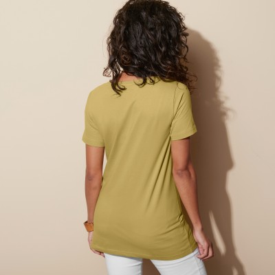Tee-shirt col rond uni Olive: Vue 3