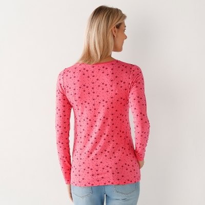 Tee-shirt imprimé viscose stretch Rose / cerise: Vue 3