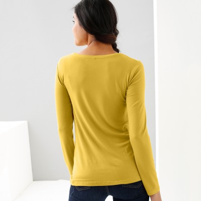 Tee-shirt col rond viscose stretch Anis: Vue 3