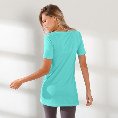 Tee-shirt long Aqua: Vue 3