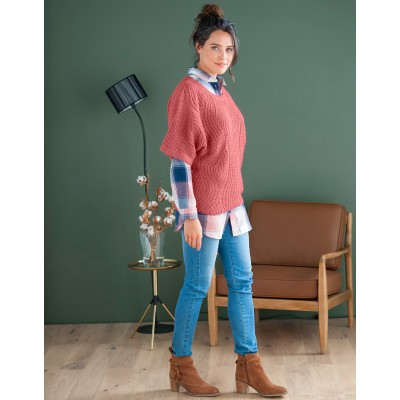 Pull poncho manches coudes Tomette: Vue 3