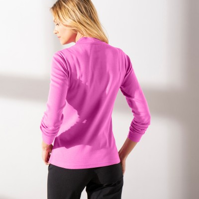 Tee-shirt col montant manches longues Rose: Vue 2