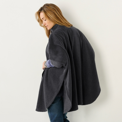 Poncho polaire Anthracite: Vue 3