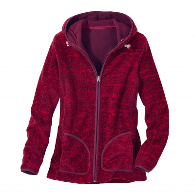 Sweat polaire imprimé chiné Cerise chiné: Vue 3