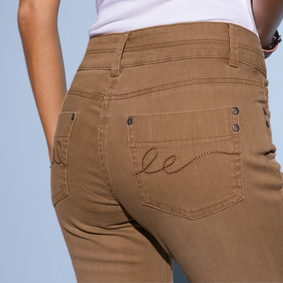 Jean bootcut stretch couleur Taupe: Vue 3