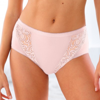 Culotte maxi dentelle - lot de 3 Kaki + rose + terracotta: Vue 3