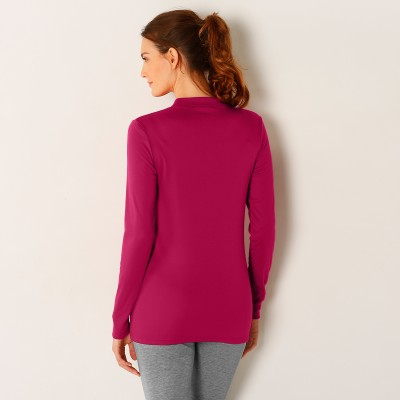 Tee-shirt thermique col montant - manches longues Fuchsia: Vue 3