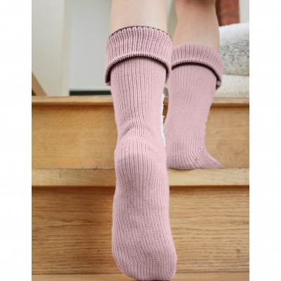 Chaussons-chaussettes cocooning - renard Taupe: Vue 3