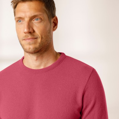 Pull col rond 80% laine Pourpre: Vue 3