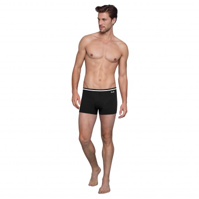 Boxer coton stretch Eco-Dim® - lot de 4 noir Noir: Vue 3