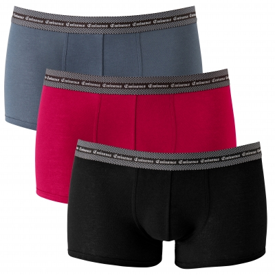 Boxer Trio Select Eminence® - lot de 3 Noir + rouge + gris: Vue 3