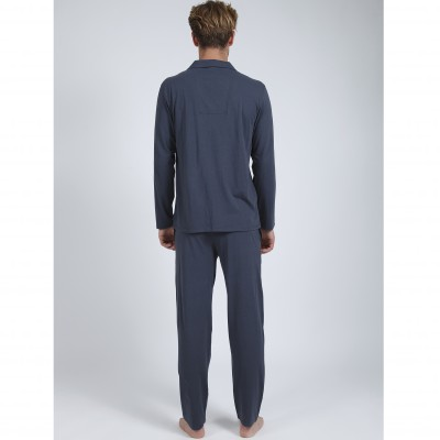 Pyjama chemise manches longues homme - Athena® Anthracite: Vue 3