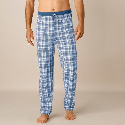 Pantalon pyjama bas droits - lot de 2 Car ble/car gris: Vue 3