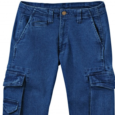 Jean battle denim stretch Stone: Vue 3