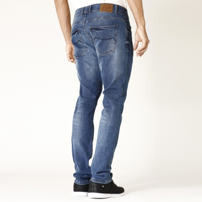 Jean denim stretch Fibreflex® Coolmax® RL80 Stone washed: Vue 3