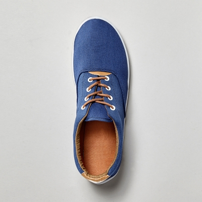 Sneakers toile lacets Marine: Vue 3