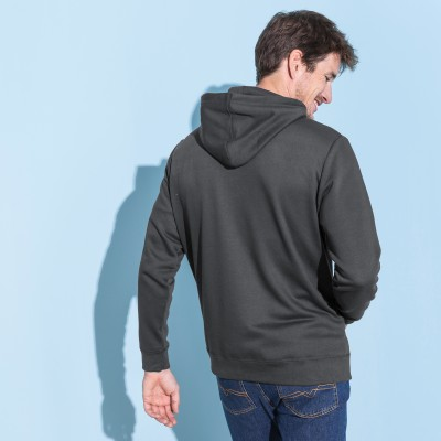 Sweat molleton zippé à capuche Anthracite: Vue 3
