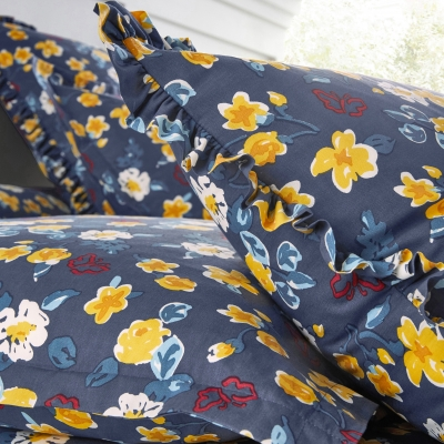 Linge de lit Betty coton Marine: Vue 4