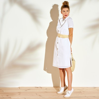 Robe chemisier broderie anglaise Blanc: Vue 4