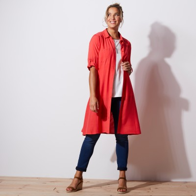 Robe-chemise - rouge Rouge: Vue 4
