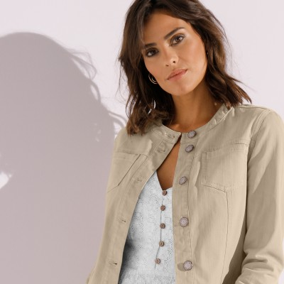 Veste broderie anglaise Sable: Vue 4