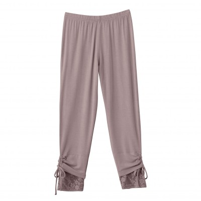 Corsaire dentelle maille jersey extensible Taupe: Vue 4