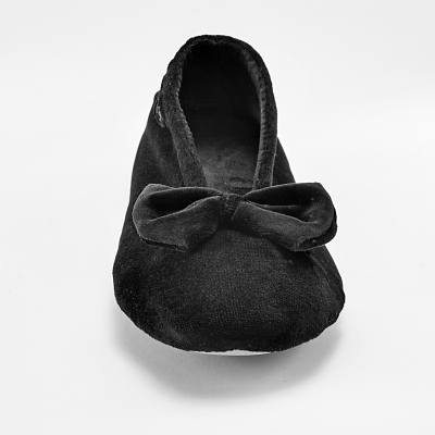 Ballerines unies velours Noir: Vue 4