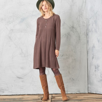 Robe pull boutonnée Taupe: Vue 4