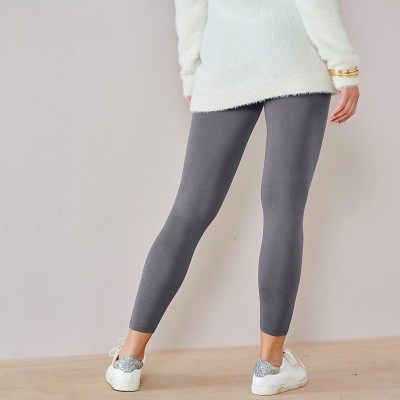 Legging coton extensible uni Anthracite: Vue 4