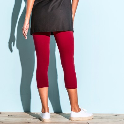 Legging 3/4 uni - lot de 2 Rouge / noir: Vue 4