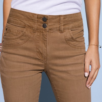 Jean bootcut stretch couleur Taupe: Vue 4