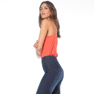 Jegging extensible coupe skinny Bleached: Vue 4