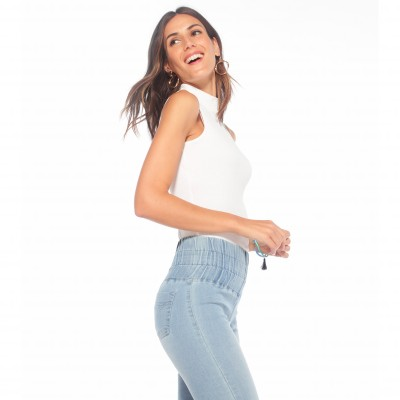 Jegging extensible coupe skinny Stone: Vue 4