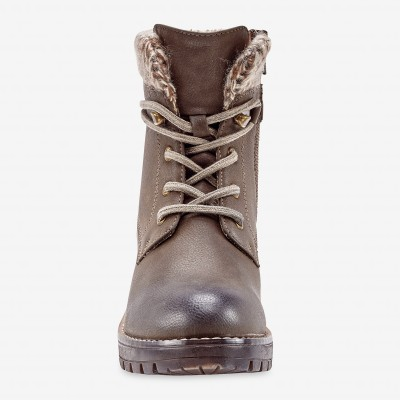 Bottines montagnardes, col chaussette - taupe Taupe: Vue 4
